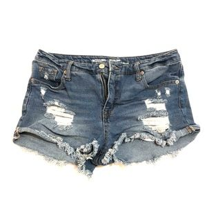 Mossimo high waisted ripped jean shorts